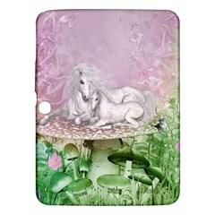 Wonderful Unicorn With Foal On A Mushroom Samsung Galaxy Tab 3 (10 1 ) P5200 Hardshell Case  by FantasyWorld7