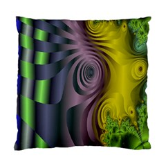 Fractal In Purple Gold And Green Standard Cushion Case (two Sides) by Simbadda