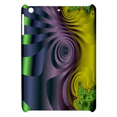 Fractal In Purple Gold And Green Apple Ipad Mini Hardshell Case by Simbadda