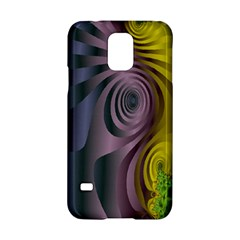 Fractal In Purple Gold And Green Samsung Galaxy S5 Hardshell Case  by Simbadda