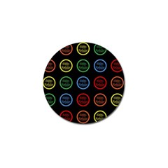 Happy Birthday Colorful Wallpaper Background Golf Ball Marker (10 Pack) by Simbadda
