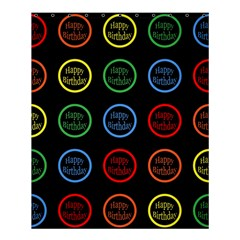 Happy Birthday Colorful Wallpaper Background Shower Curtain 60  X 72  (medium)  by Simbadda