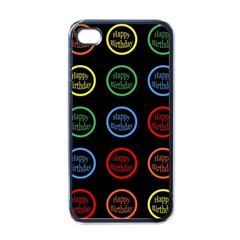 Happy Birthday Colorful Wallpaper Background Apple Iphone 4 Case (black) by Simbadda