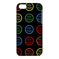 Happy Birthday Colorful Wallpaper Background Apple Iphone 5c Hardshell Case by Simbadda