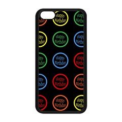 Happy Birthday Colorful Wallpaper Background Apple Iphone 5c Seamless Case (black) by Simbadda