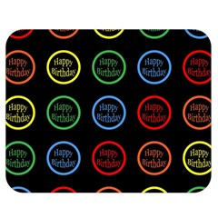 Happy Birthday Colorful Wallpaper Background Double Sided Flano Blanket (medium)  by Simbadda