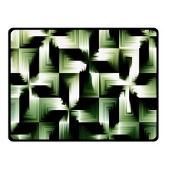 Green Black And White Abstract Background Of Squares Fleece Blanket (small)