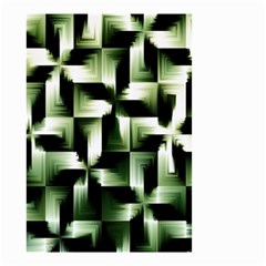 Green Black And White Abstract Background Of Squares Small Garden Flag (two Sides) by Simbadda