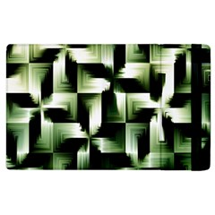 Green Black And White Abstract Background Of Squares Apple Ipad 3/4 Flip Case by Simbadda