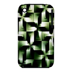 Green Black And White Abstract Background Of Squares Iphone 3s/3gs by Simbadda