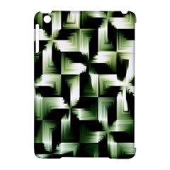 Green Black And White Abstract Background Of Squares Apple Ipad Mini Hardshell Case (compatible With Smart Cover) by Simbadda