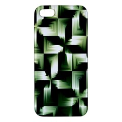 Green Black And White Abstract Background Of Squares Iphone 5s/ Se Premium Hardshell Case by Simbadda