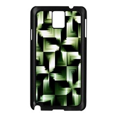 Green Black And White Abstract Background Of Squares Samsung Galaxy Note 3 N9005 Case (black) by Simbadda