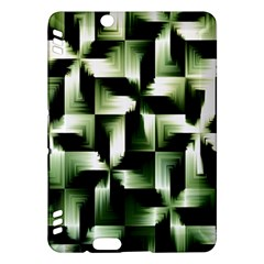 Green Black And White Abstract Background Of Squares Kindle Fire Hdx Hardshell Case by Simbadda