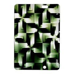 Green Black And White Abstract Background Of Squares Kindle Fire Hdx 8 9  Hardshell Case by Simbadda