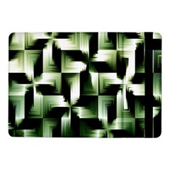 Green Black And White Abstract Background Of Squares Samsung Galaxy Tab Pro 10 1  Flip Case by Simbadda