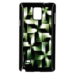 Green Black And White Abstract Background Of Squares Samsung Galaxy Note 4 Case (black)