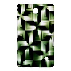 Green Black And White Abstract Background Of Squares Samsung Galaxy Tab 4 (8 ) Hardshell Case  by Simbadda