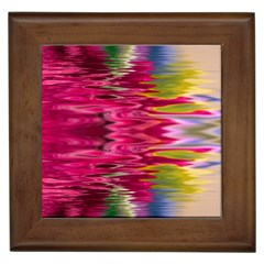 Abstract Pink Colorful Water Background Framed Tiles by Simbadda