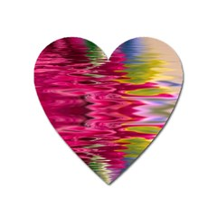 Abstract Pink Colorful Water Background Heart Magnet by Simbadda
