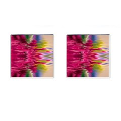 Abstract Pink Colorful Water Background Cufflinks (square) by Simbadda
