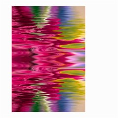 Abstract Pink Colorful Water Background Small Garden Flag (two Sides) by Simbadda