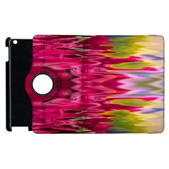 Abstract Pink Colorful Water Background Apple Ipad 2 Flip 360 Case by Simbadda