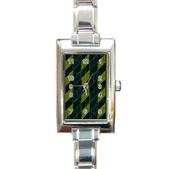 Futuristic Dark Pattern Rectangle Italian Charm Watch by dflcprints