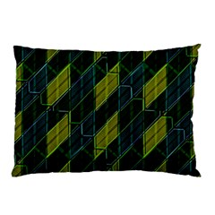 Futuristic Dark Pattern Pillow Case by dflcprints