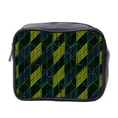 Futuristic Dark Pattern Mini Toiletries Bag 2 Side by dflcprints
