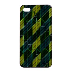 Futuristic Dark Pattern Apple Iphone 4/4s Seamless Case (black) by dflcprints