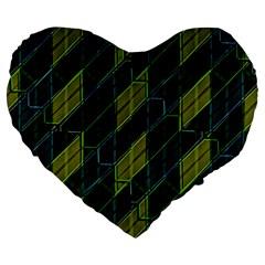 Futuristic Dark Pattern Large 19  Premium Heart Shape Cushions by dflcprints