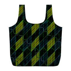 Futuristic Dark Pattern Full Print Recycle Bags (l)  by dflcprints