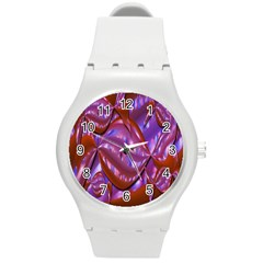 Passion Candy Sensual Abstract Round Plastic Sport Watch (m) by Simbadda