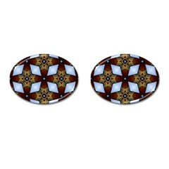 Abstract Seamless Background Pattern Cufflinks (oval) by Simbadda