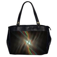 Colorful Waves With Lights Abstract Multicolor Waves With Bright Lights Background Office Handbags (2 Sides)  by Simbadda