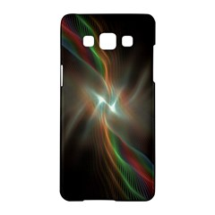 Colorful Waves With Lights Abstract Multicolor Waves With Bright Lights Background Samsung Galaxy A5 Hardshell Case  by Simbadda