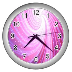 Vortexglow Abstract Background Wallpaper Wall Clocks (silver)  by Simbadda