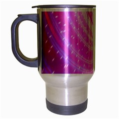 Vortexglow Abstract Background Wallpaper Travel Mug (silver Gray) by Simbadda