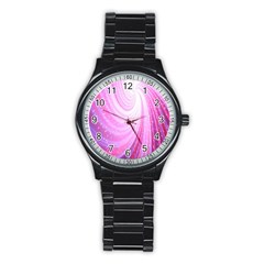 Vortexglow Abstract Background Wallpaper Stainless Steel Round Watch by Simbadda