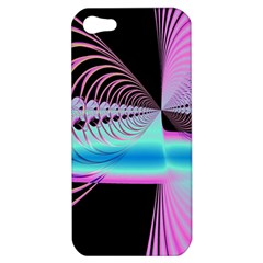 Blue And Pink Swirls And Circles Fractal Apple Iphone 5 Hardshell Case by Simbadda