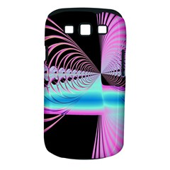 Blue And Pink Swirls And Circles Fractal Samsung Galaxy S Iii Classic Hardshell Case (pc+silicone) by Simbadda