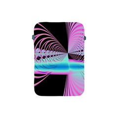 Blue And Pink Swirls And Circles Fractal Apple Ipad Mini Protective Soft Cases by Simbadda