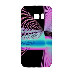 Blue And Pink Swirls And Circles Fractal Galaxy S6 Edge