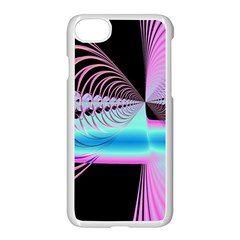Blue And Pink Swirls And Circles Fractal Apple Iphone 7 Seamless Case (white) by Simbadda