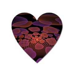 Heart Invasion Background Image With Many Hearts Heart Magnet by Simbadda