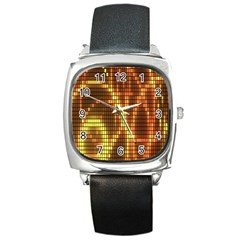 Circle Tiles A Digitally Created Abstract Background Square Metal Watch