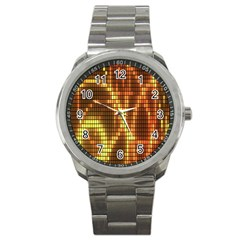 Circle Tiles A Digitally Created Abstract Background Sport Metal Watch by Simbadda