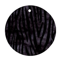 Skin4 Black Marble & Black Watercolor Ornament (round)