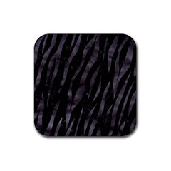 Skin3 Black Marble & Black Watercolor Rubber Square Coaster (4 Pack) by trendistuff